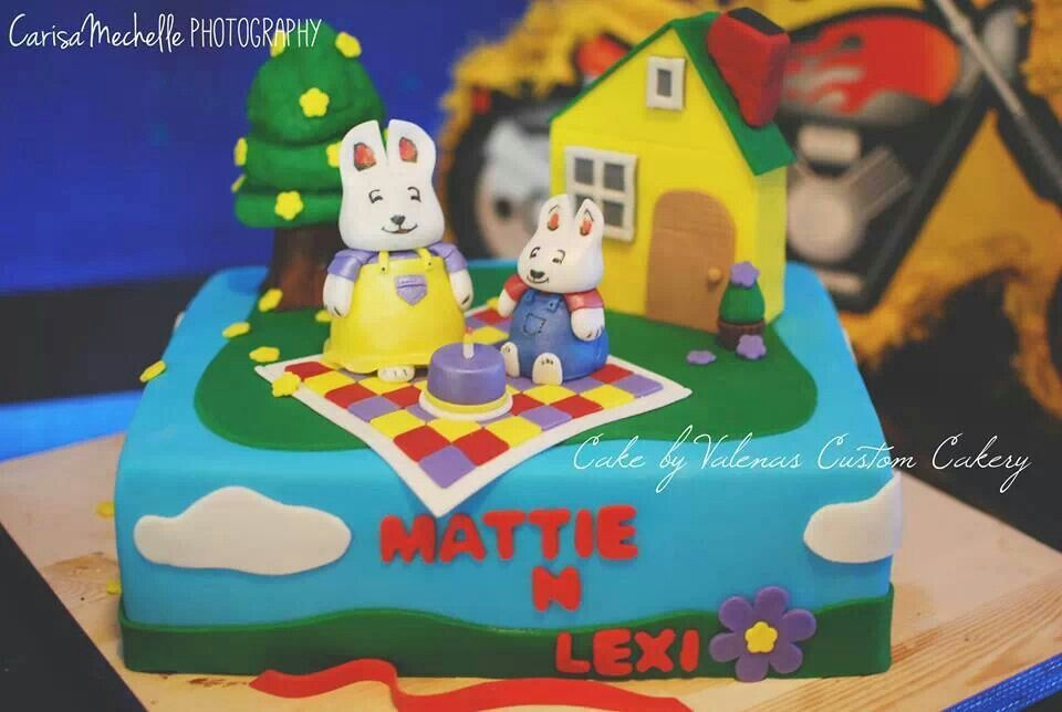 Max And Ruby Birthday Cake For A Brother Sister Party Valenas Custom Cakery Outside Of Seattle WA On Etsy FB Valenascakesgmail