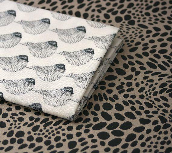 Woodgrain moineaux tissu  moitié cour par LilaRubyKingShop sur Etsy