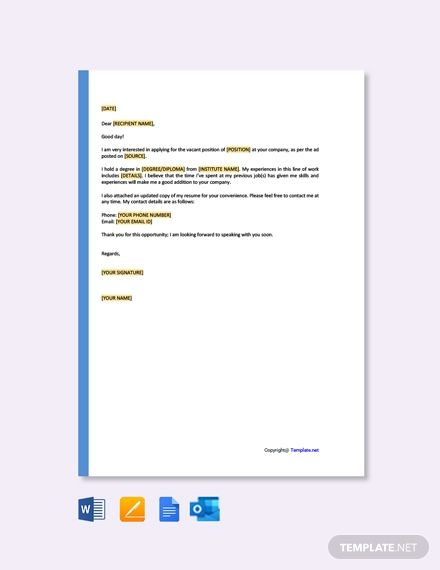 instantly download free one page resume cover letter
