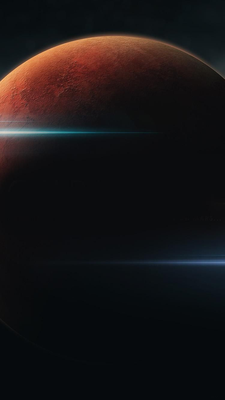 Red Planet Light Beams IPhone 6 Wallpaper