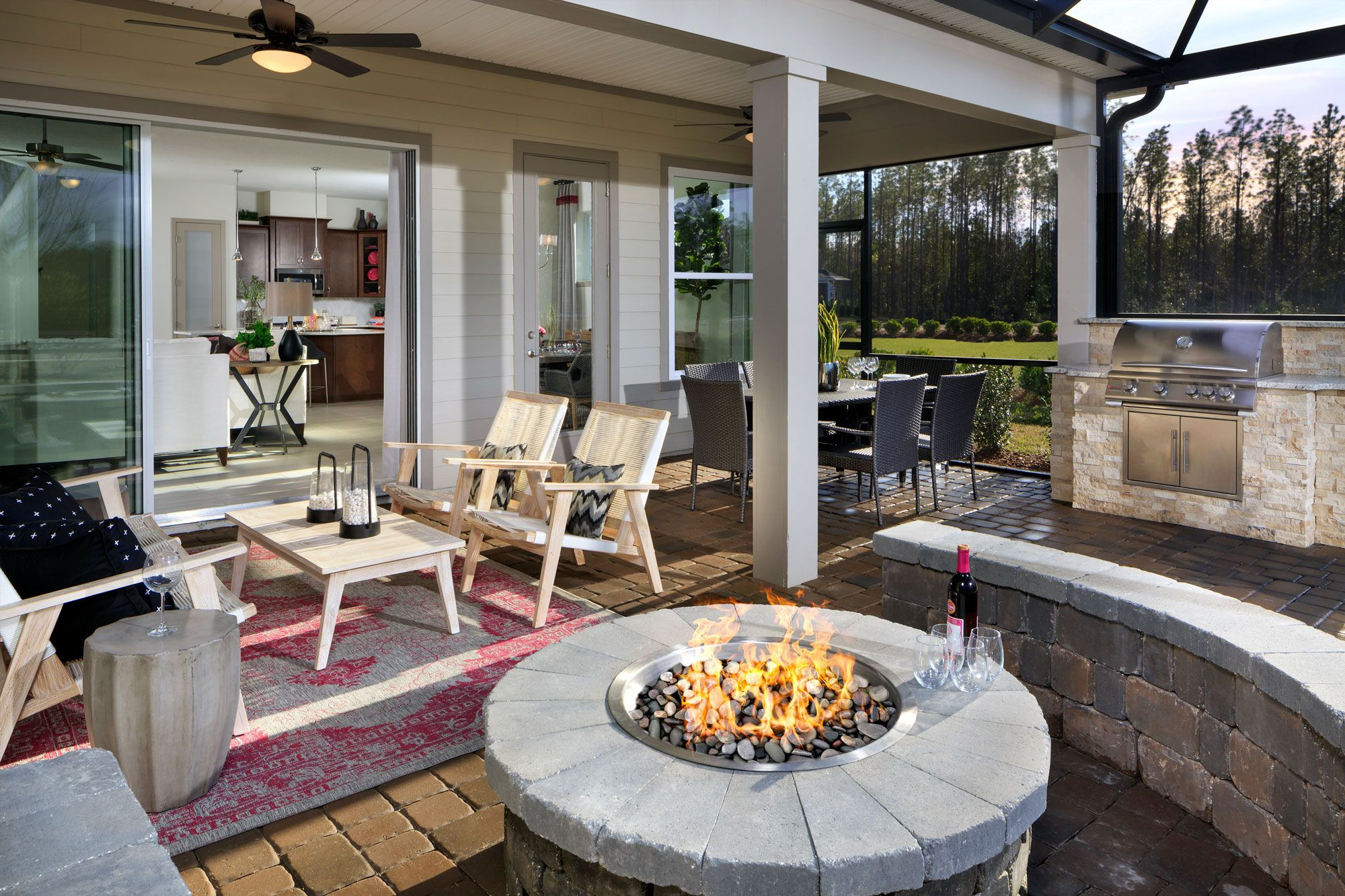 The Crandon in Ponte Vedra, FL. An outdoor fire pit will ... on Riverside Outdoor Living id=28512