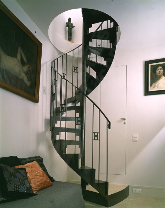 escalier m tallique style art d co photo dh3 spir 39 d co art d co marches en t le lisse. Black Bedroom Furniture Sets. Home Design Ideas