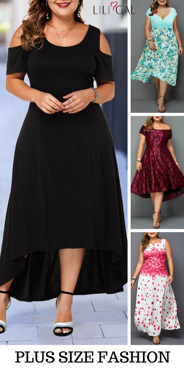 6fbff94aaf20 black cold shoulder plus size maxi dress, green floral print plus size dress,  burgundy