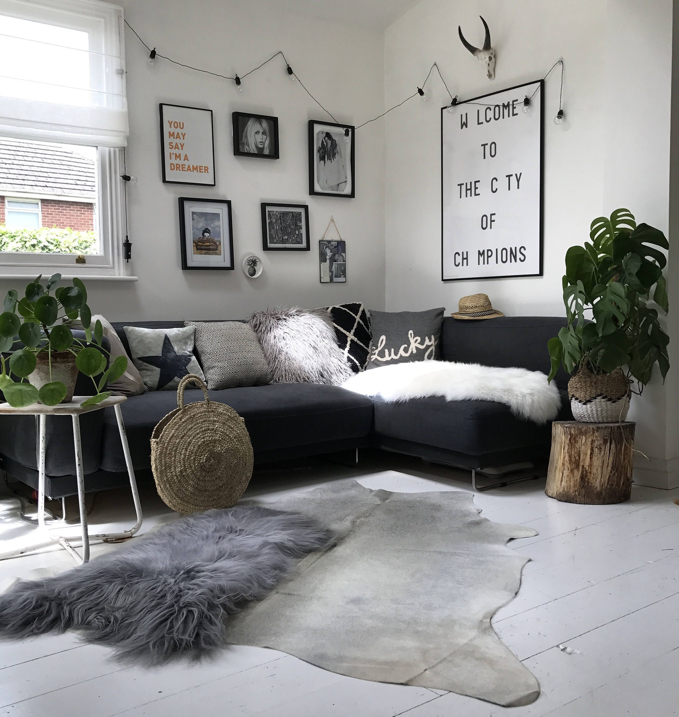 Cool Nordic Scandi Light Grey Off White Premium Quality Cowhide Gmtry Best Dining Table And Chair Ideas Images Gmtryco