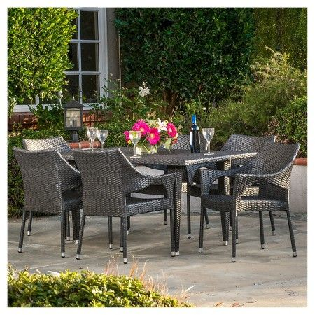 Christopher Knight Home Cliff 7 - Piece Outdoor Dining Set