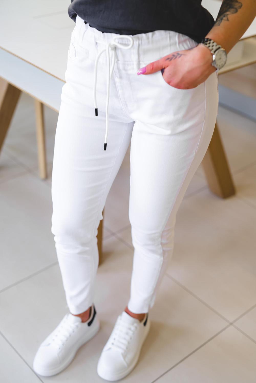Z179 Elastyczne Biale Spodnie Damskie Dzinsy Wysoki Stan Xs S M L Xl White Jeans Jeans Pants