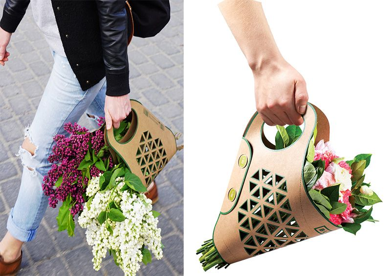 Bluma Paper Bag For Carry Flowers Comfortably Flower Packaging