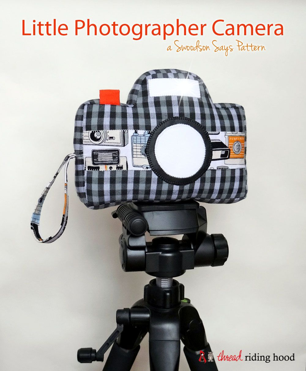 Little Photographer Camera Softie - a Swoodson Says pattern