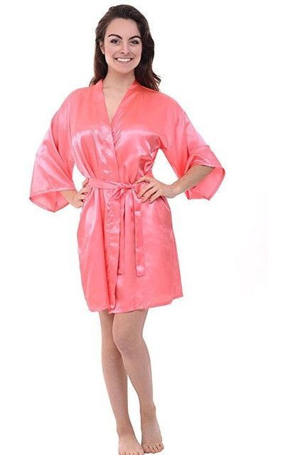 02786fe46d RB030 Sexy Large Size Sexy Satin Night Robe Lace Bathrobe Perfect Wedding  Bride Bridesmaid Robes Dressing Gown For Women