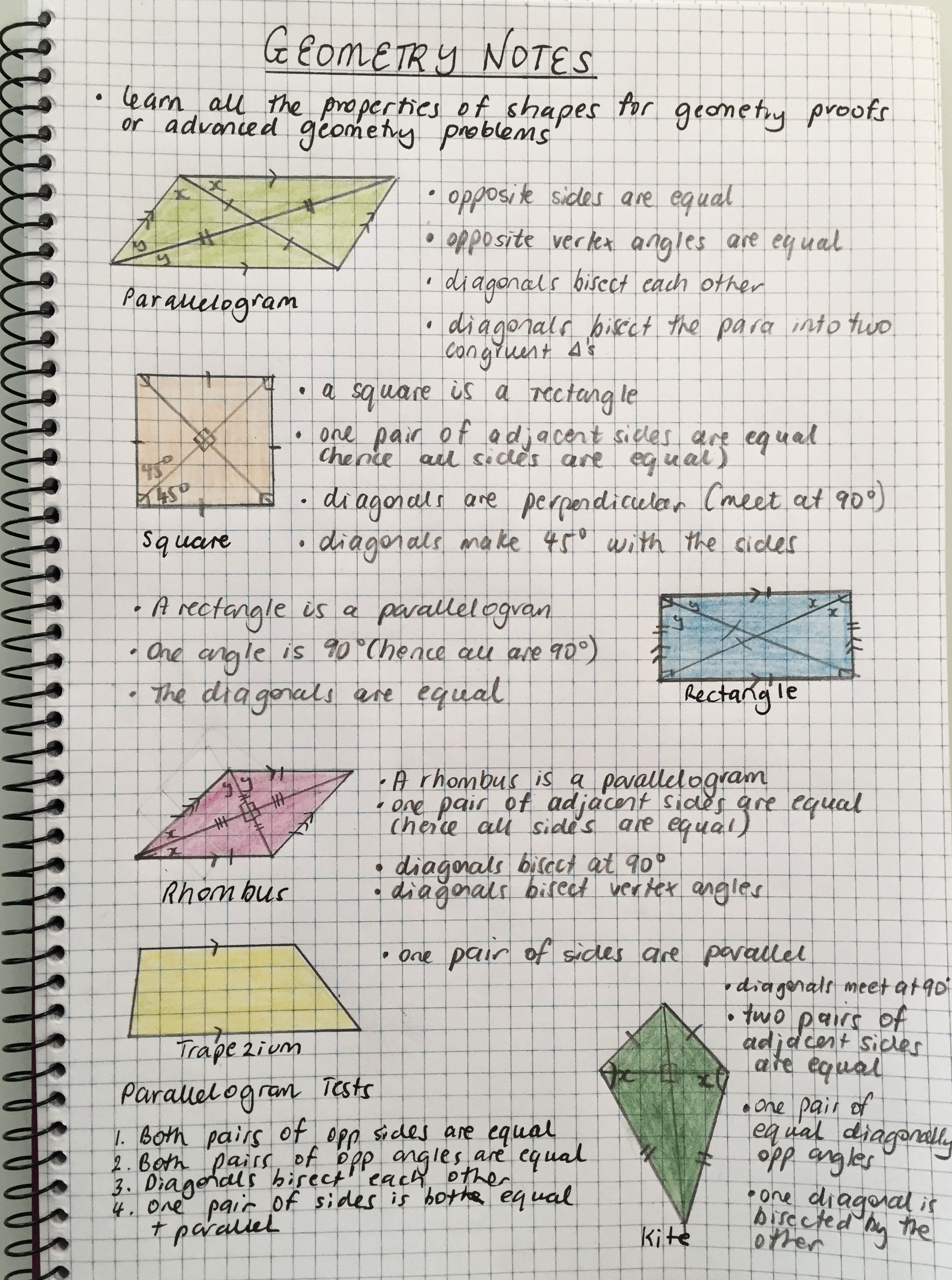 Geometry study notes -The best way to handle geometry proofs and problem  solving is to commit the properties o…   Geometry proofs [ 3061 x 2277 Pixel ]