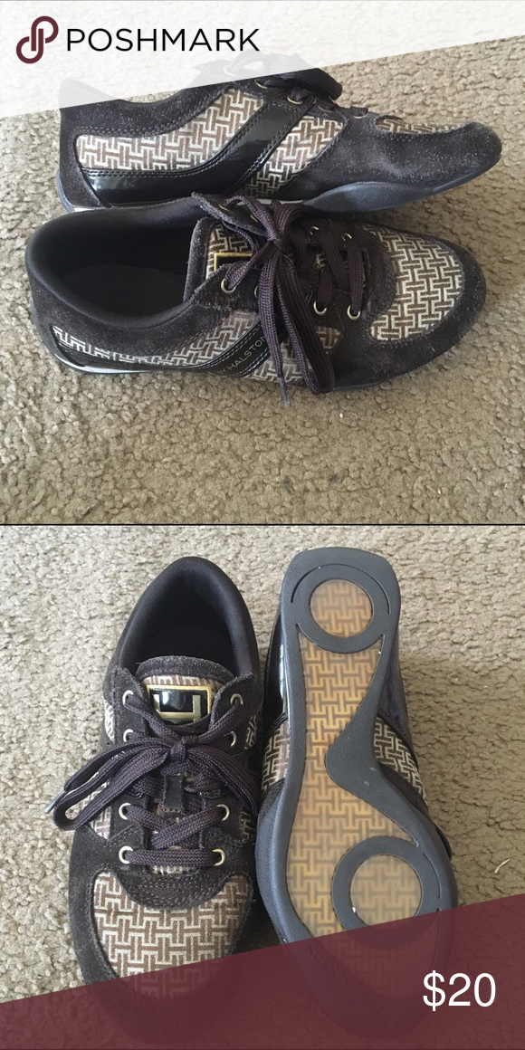 H by Halston Brown Fashion Sneakers Like new! I Barely wore these but the size markings inside have rubbed off. Comment with any questions <3 H by Halston Shoes Sneakers
