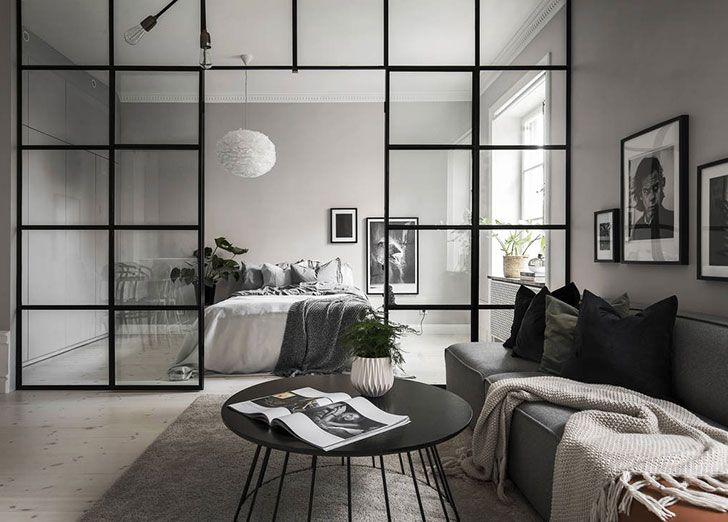 Warm Tones Living Room Ideas: Minimalism In Warm Tones: Small Apartment In Stockholm (46