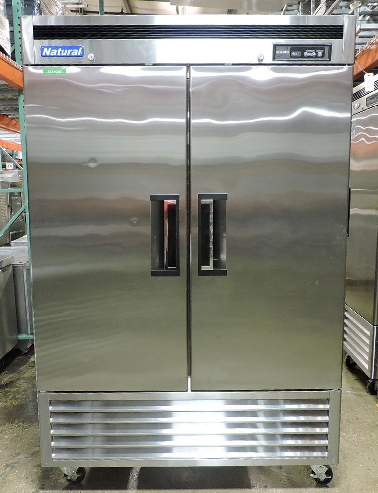 Used Natural Cooler Ncsf49 2 Commercial Reach In Solid Swing Door Freezer Naturalcooler Used Restaurant Equipment Restaurant Equipment Doors