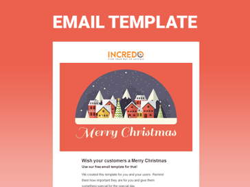 Merry Christmas Free Hubspot Email Template