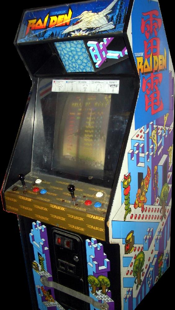 Raiden By Seibu Kaihatsu Tecmo Arcade Cabinet Arcade Arcade Games Old School Arcade Games