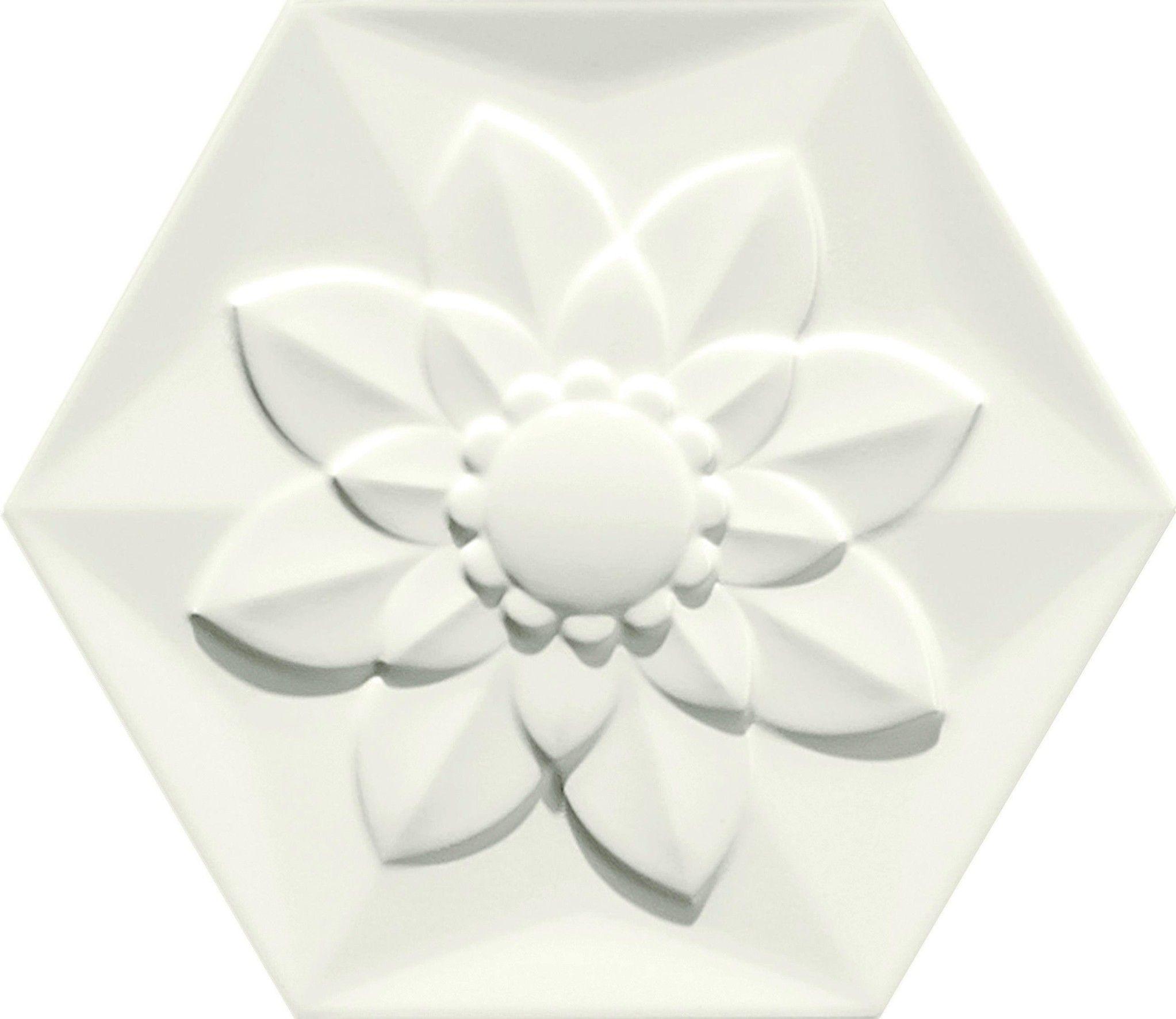 White Frozen Flower Bisazza Flower tile, Tiles