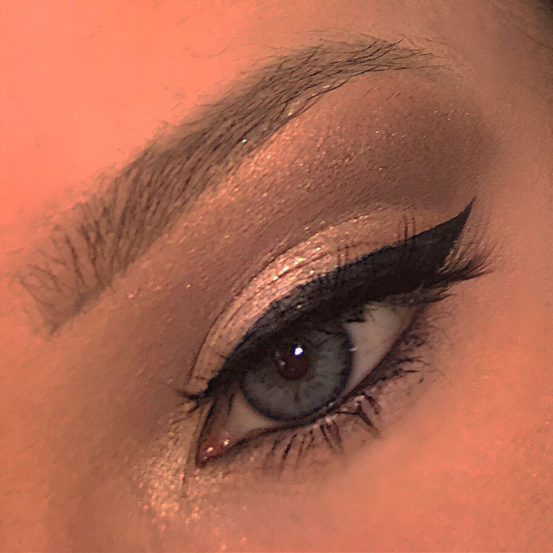 winged liner and a very soft glam  winged liner and a very soft glam  winged liner and a very soft