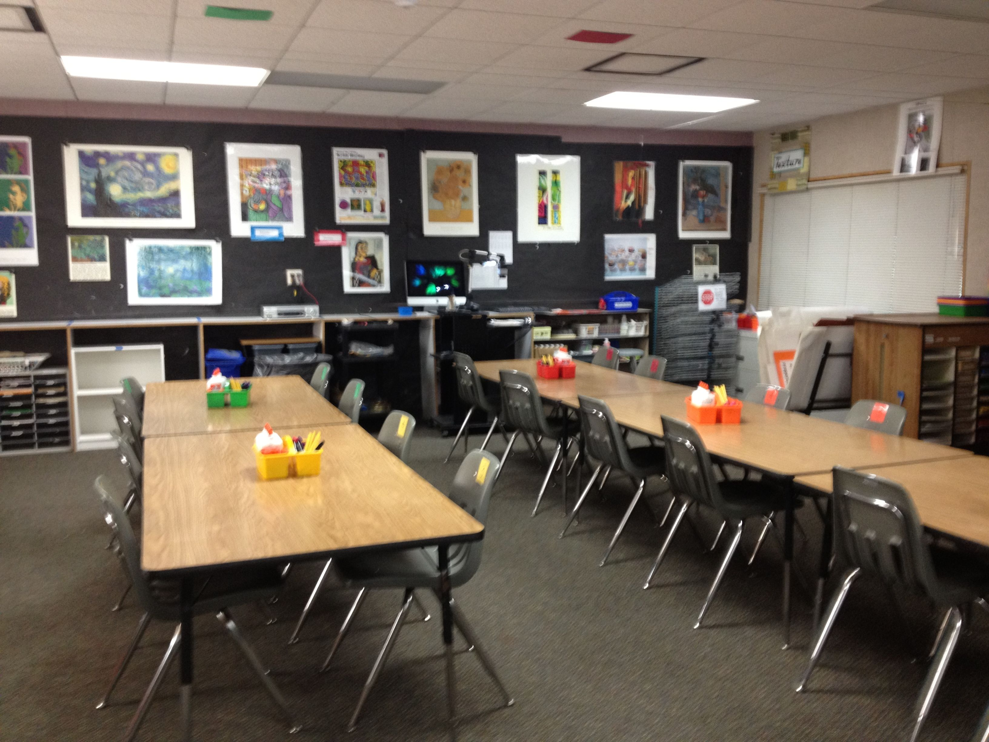 Neutral Classroom Decor : Art room opening day photos organize