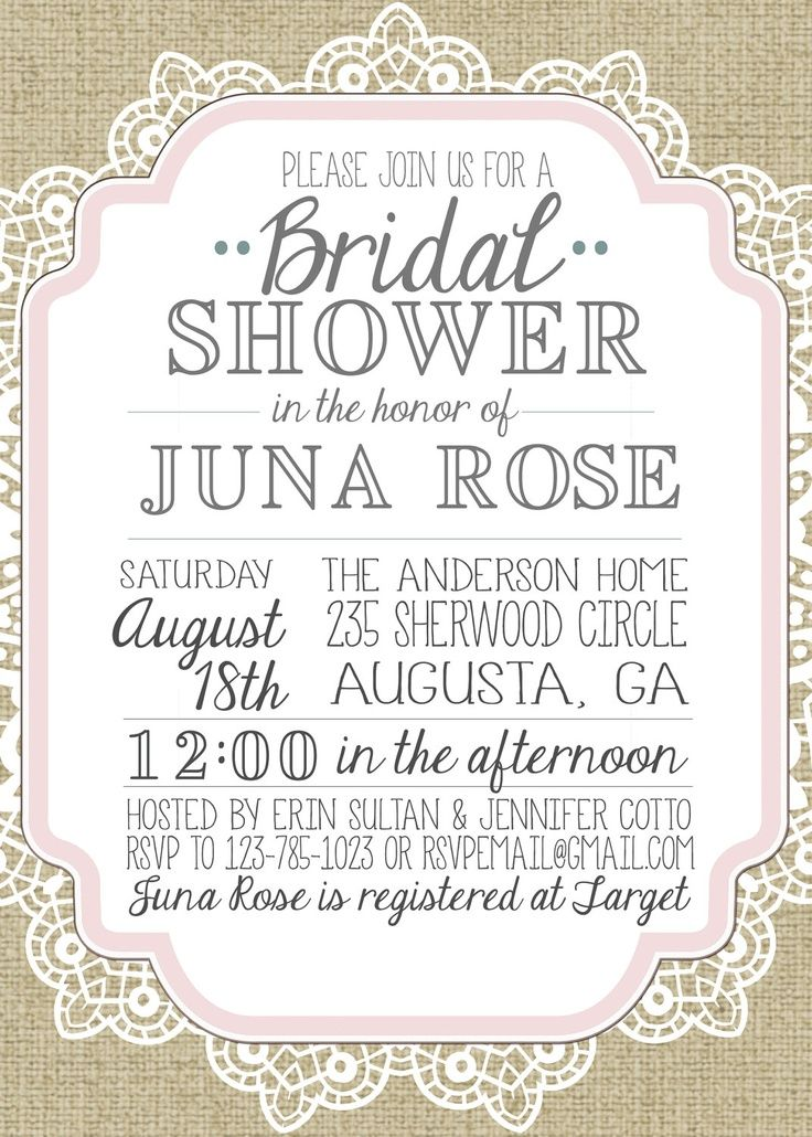 burlap and lace vintage bridal showerbaby shower inviation vintage - vintage invitation template