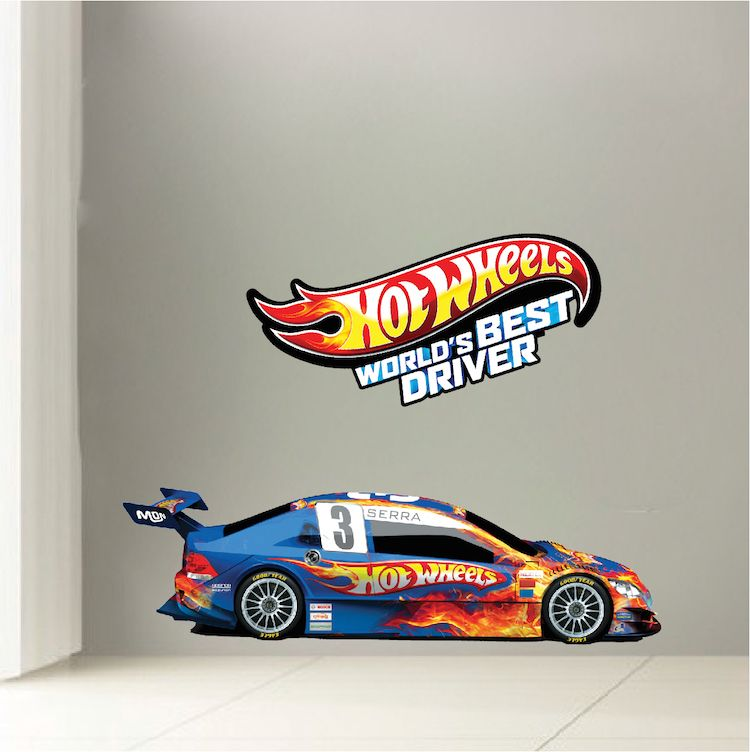 Hot Wheels Boys Room Decals Hot Wheels Wallpaper Kids Room - Wall decals carsracing car wall decal ideas for the kids pinterest wall