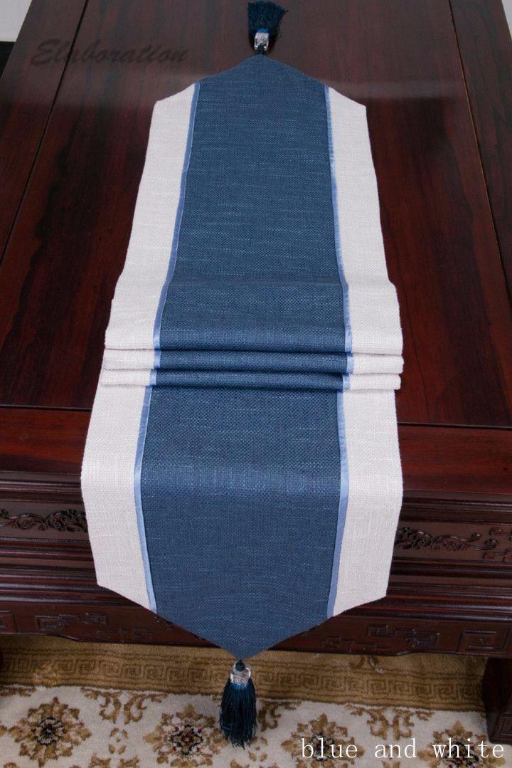 new vintage linen table runner party tablecloth toile de jute caminos de mesa chemin de table