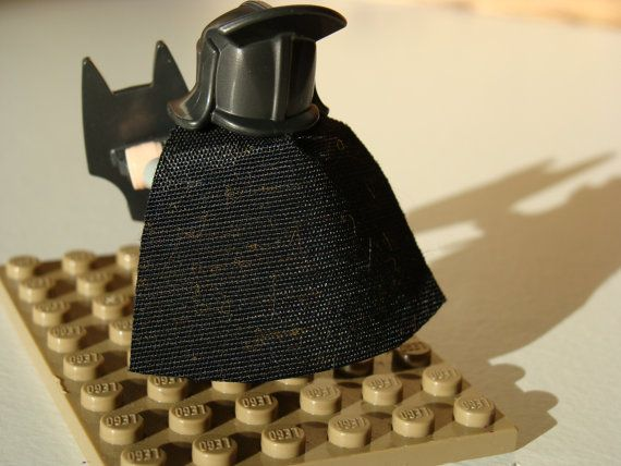 MINICAPES  black & gold by madebymichellestore on Etsy Lego minifigure capes