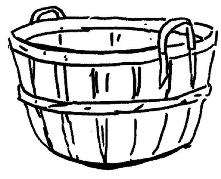 Empty Apple Basket Coloring Page Apple Baskets Coloring Pages