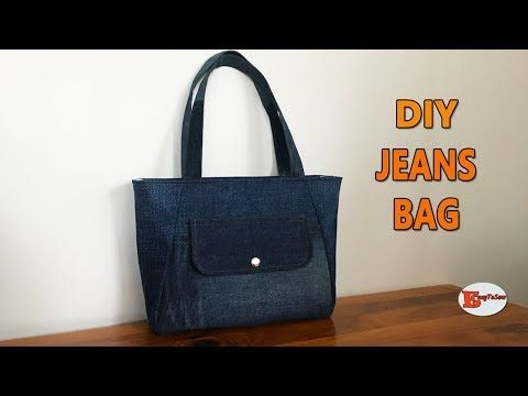 DIY JEANS BAG | RECYCLE OLD JEANS | TOTE BAG | DIY BAG OUT OF OLD CLOTHES | SEWING TUTORIAL