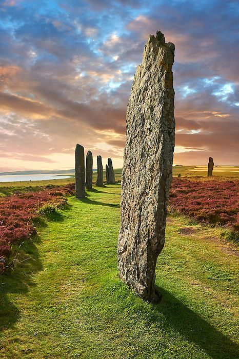 Pictures of the Neolithic Ring of Brodgar, Orkney, Scotland - Stock Photos | Funkystock Picture & Image Library Resource