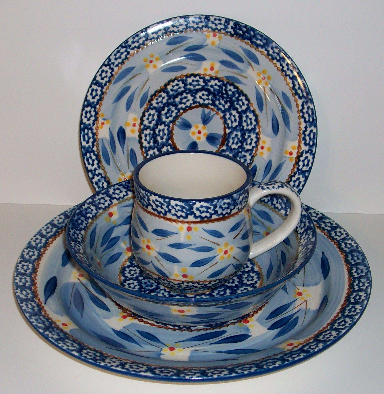 temptations dinnerware old world | TEMP-TATIONS TEMPTATIONS 4PC DINNERWARE SET-OLD WORLD BLUE - NEW-SHOP . & Temp-tations temptations 4pc dinnerware set-old world blue - new ...
