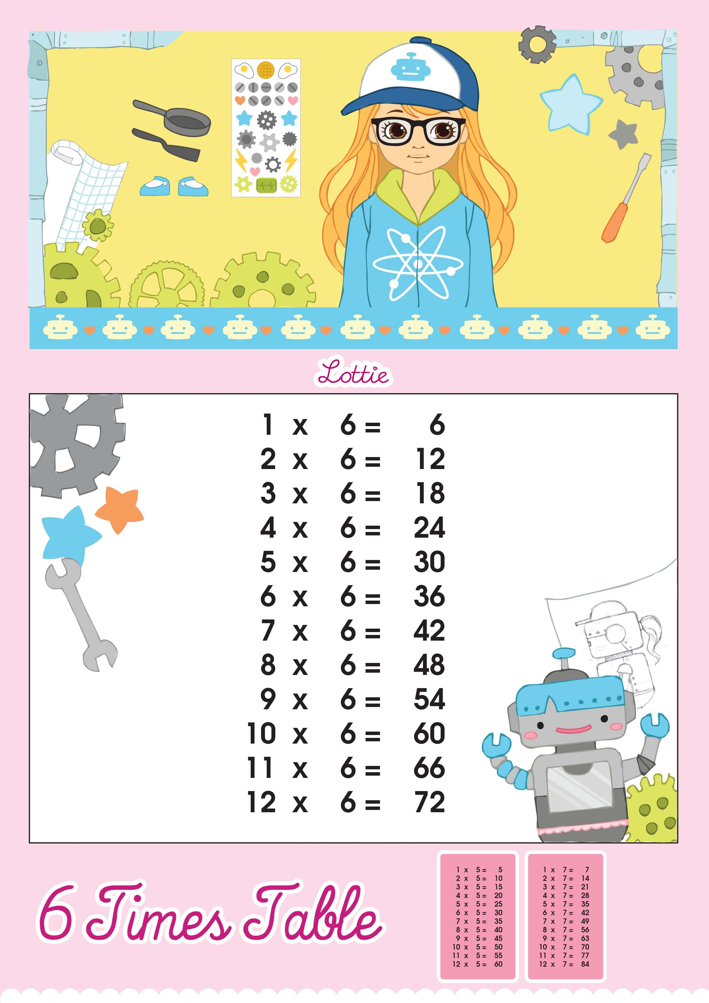table chart for kids. Lottie-doll-Printable-6-Times-Tables.jpg 2,480×3,507 Table Chart For Kids O