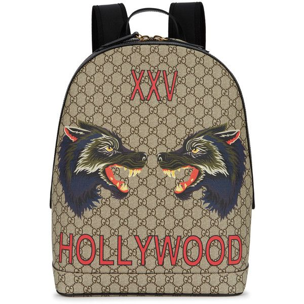 acd940df9a6 Gucci GG Supreme Wolf Backpack ( 1