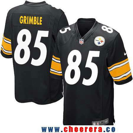 New Men's Pittsburgh Steelers #85 Xavier Grimble Black Team Color  for sale