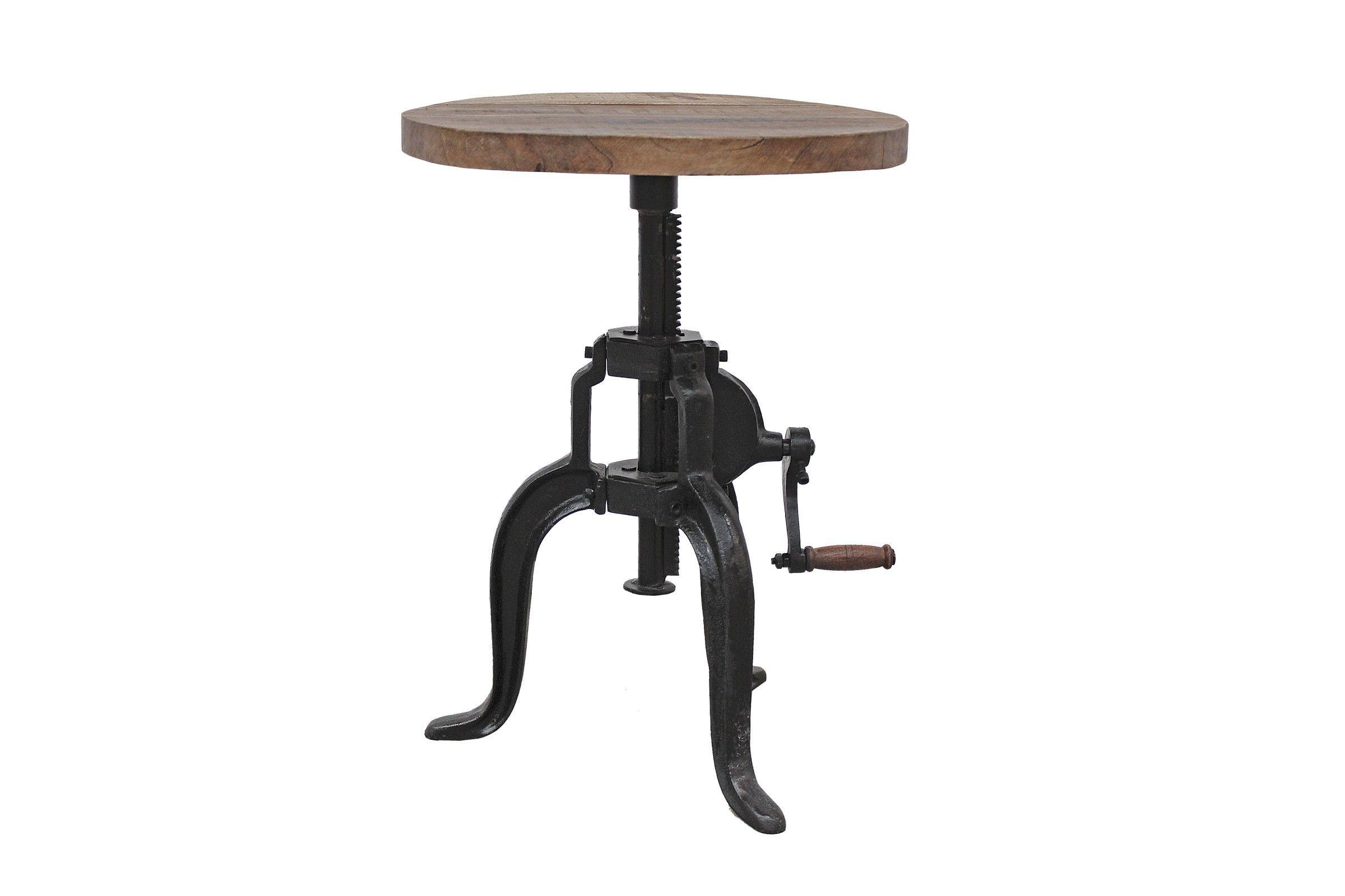 Hohenverstellbarer Tisch Aus Mangoholz Einfach Uber Die