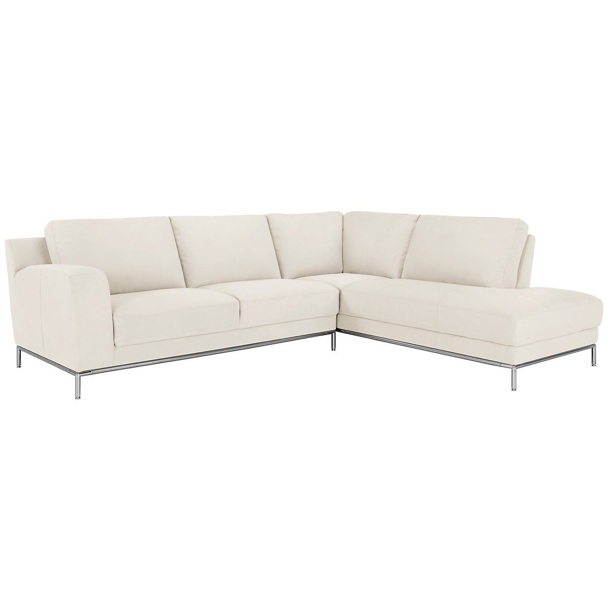 Wynn White Micro Right Chaise Sectional Home Design