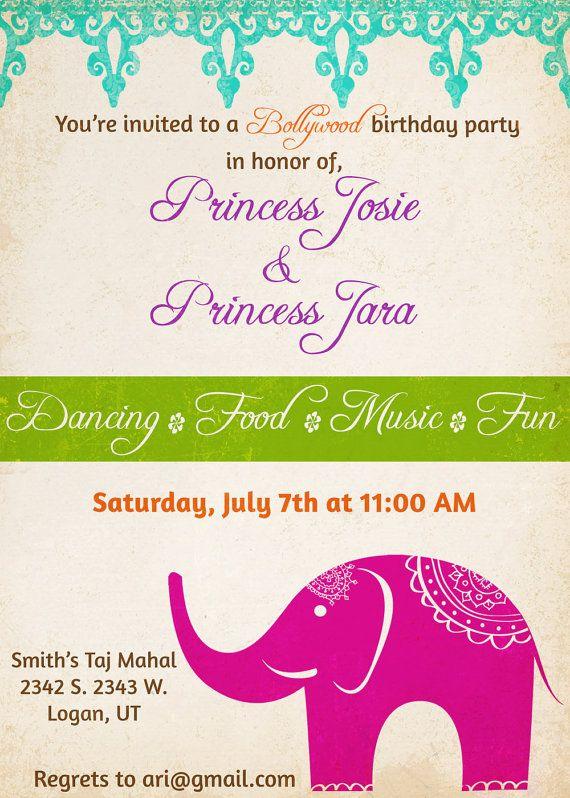 Bollywood Themed Birthday Party By Amysstationeryshoppe On Etsy