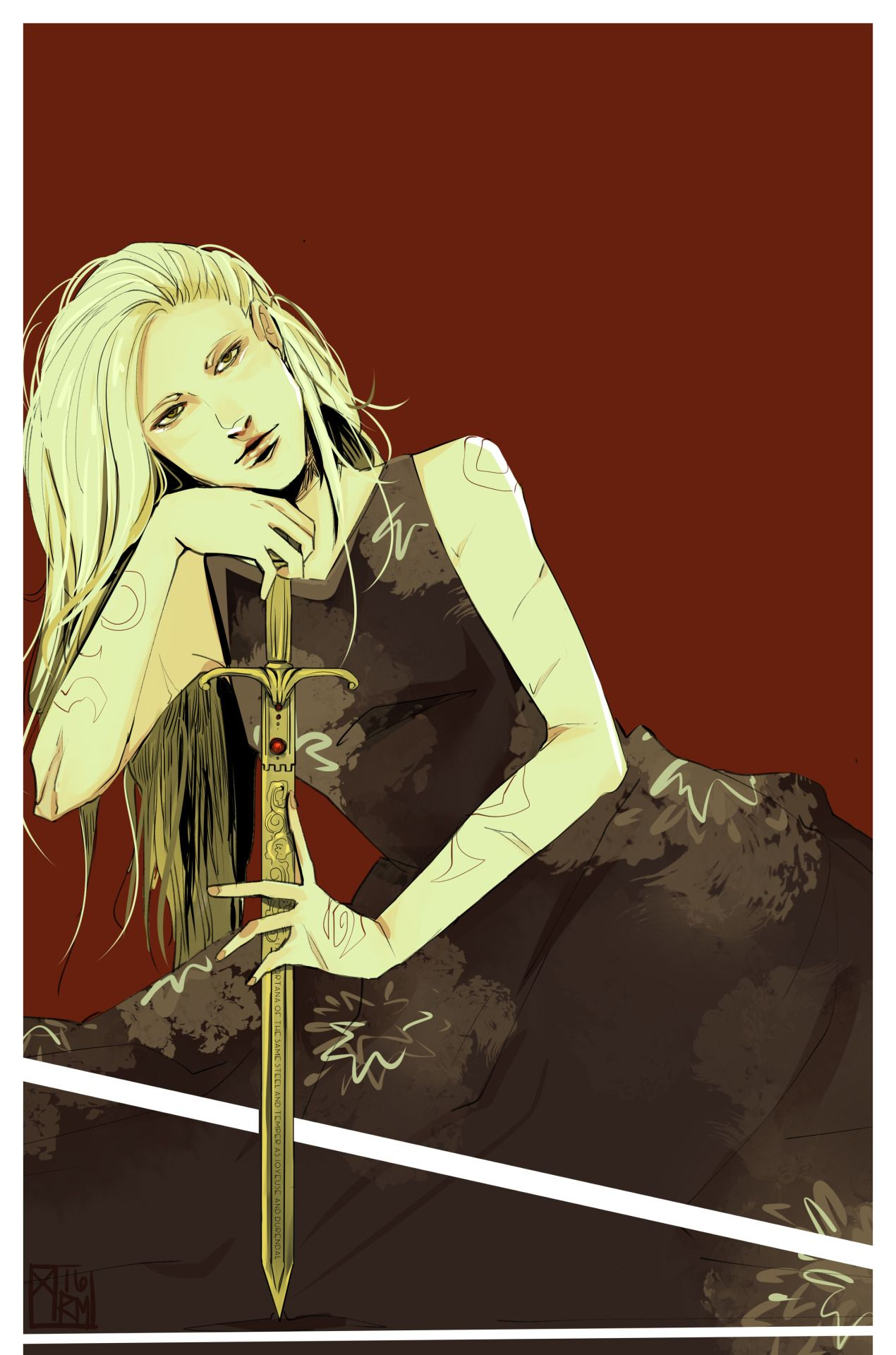 """aegisdea: """" Finally! Emma Carstairs © The Dark Artifices, @cassandraclare """" Wow! I always love aegisdea's work but this is special."""