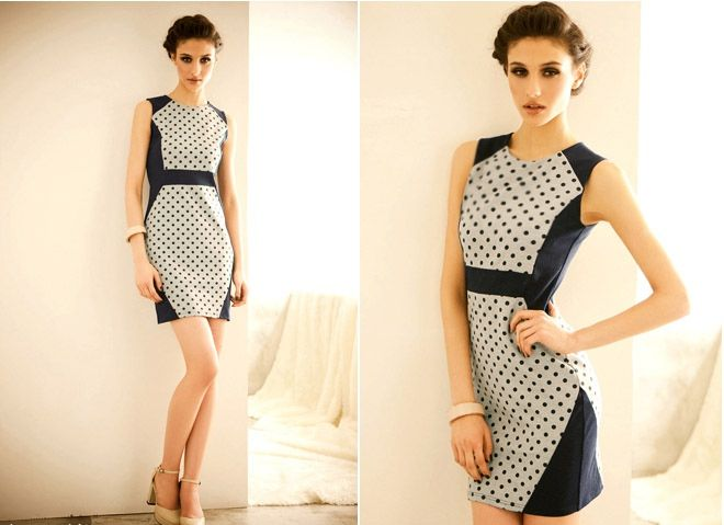 Charming Polka Dot Scoop Neck Sleeveless Cotton Vintage Dress For Women (AS THE PICTURE,ONE SIZE) China Wholesale - Sammydress.com