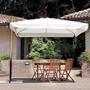 Ombrelloni Da Giardino In Legno Prezzi.Ombrellone Retrattile In Alluminio 3x3 Con Palo Laterale