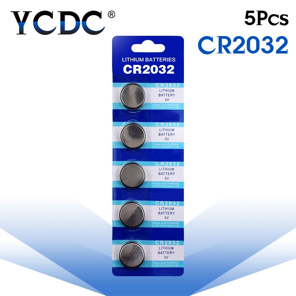 5pcs Pack Cr2032 Button Batteries Br2032 Dl2032 Ecr2032 Cell Coin Lithium Battery 3v Cr 2032 For Watch Electronic T Lithium Battery Button Cell Electronic Toys