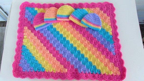 Micro Preemie Gift Preemie Blanket Hat Set Crochet Baby Set Nicu