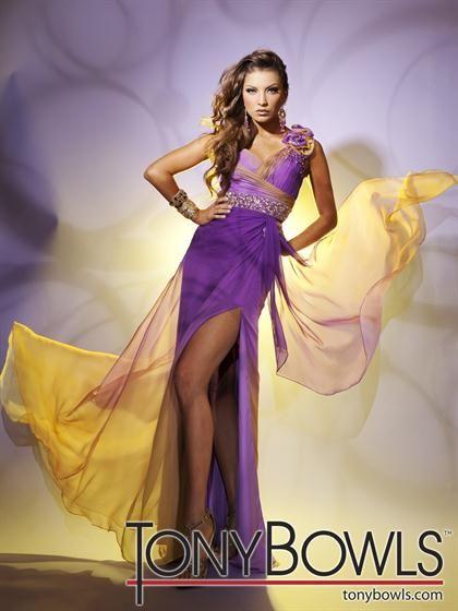 Purple and yellow dress