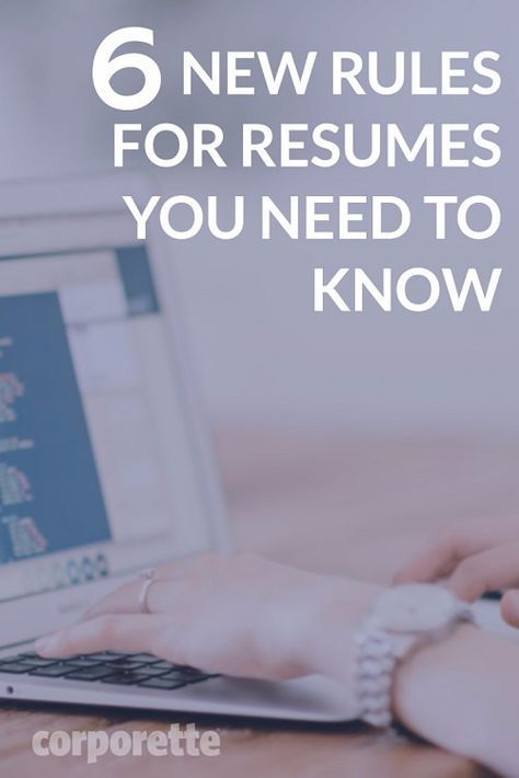 Resume Rules For 2017 That You May Not Know About Career