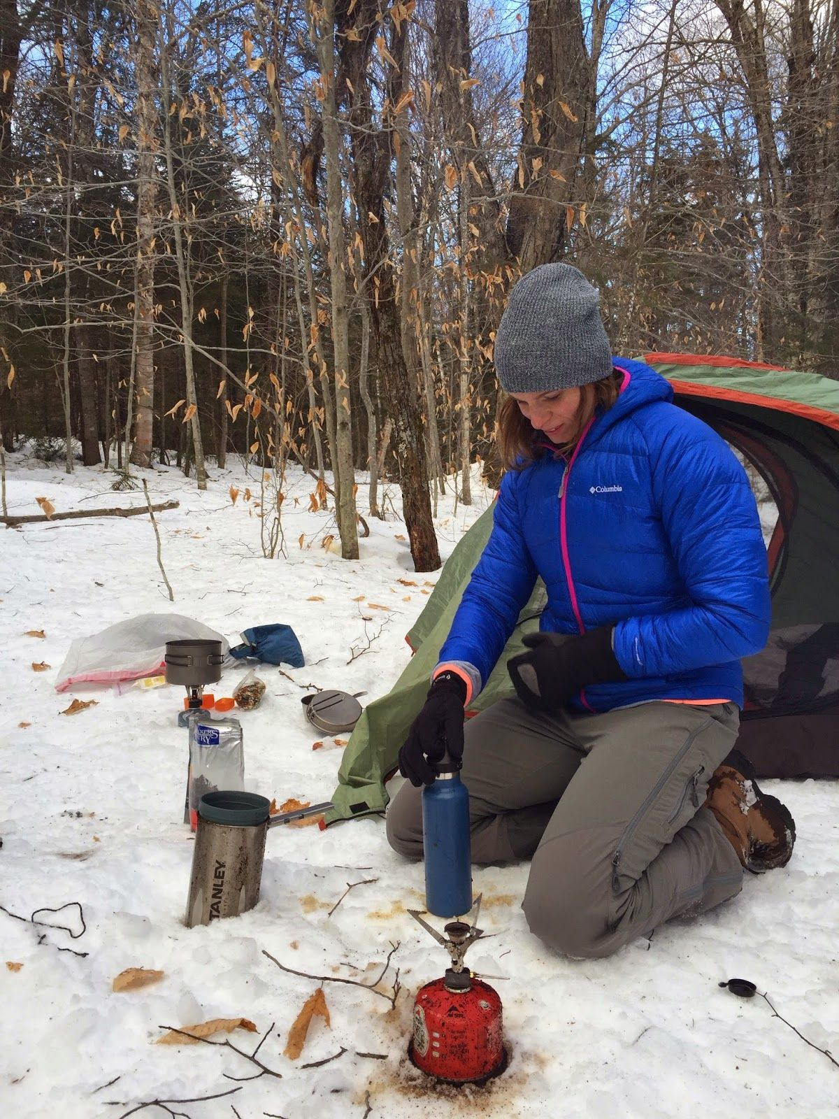 Winter backpacking is awesome bugs are nowhere to be found the