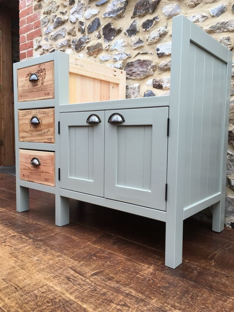 Best Details About 3 Drawer Wine Box Belfast Sink Unit Solid 400 x 300