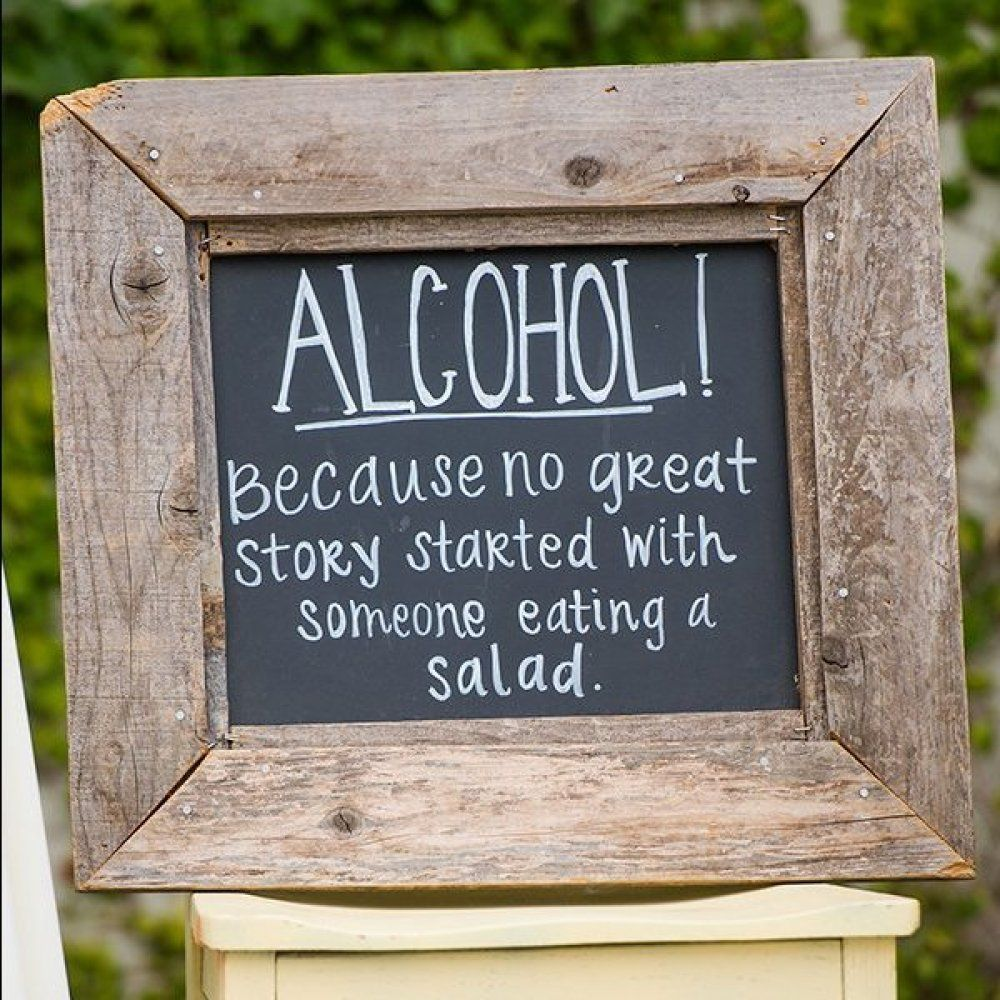 50 Clever Signs Your Wedding Guests Will Get A Kick Out Of