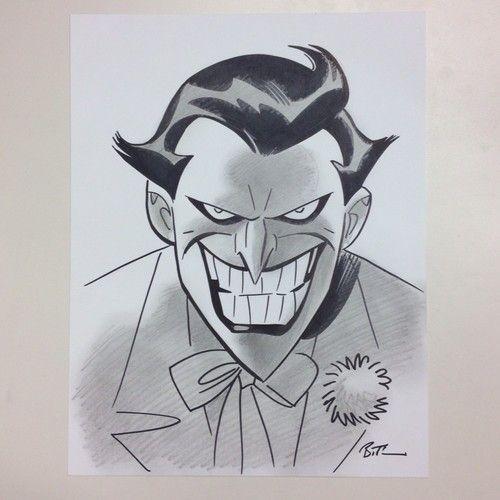 Bruce TIMM - Joker Pencil Ink Sketch NR | Bruce Timm Joker And Sketches