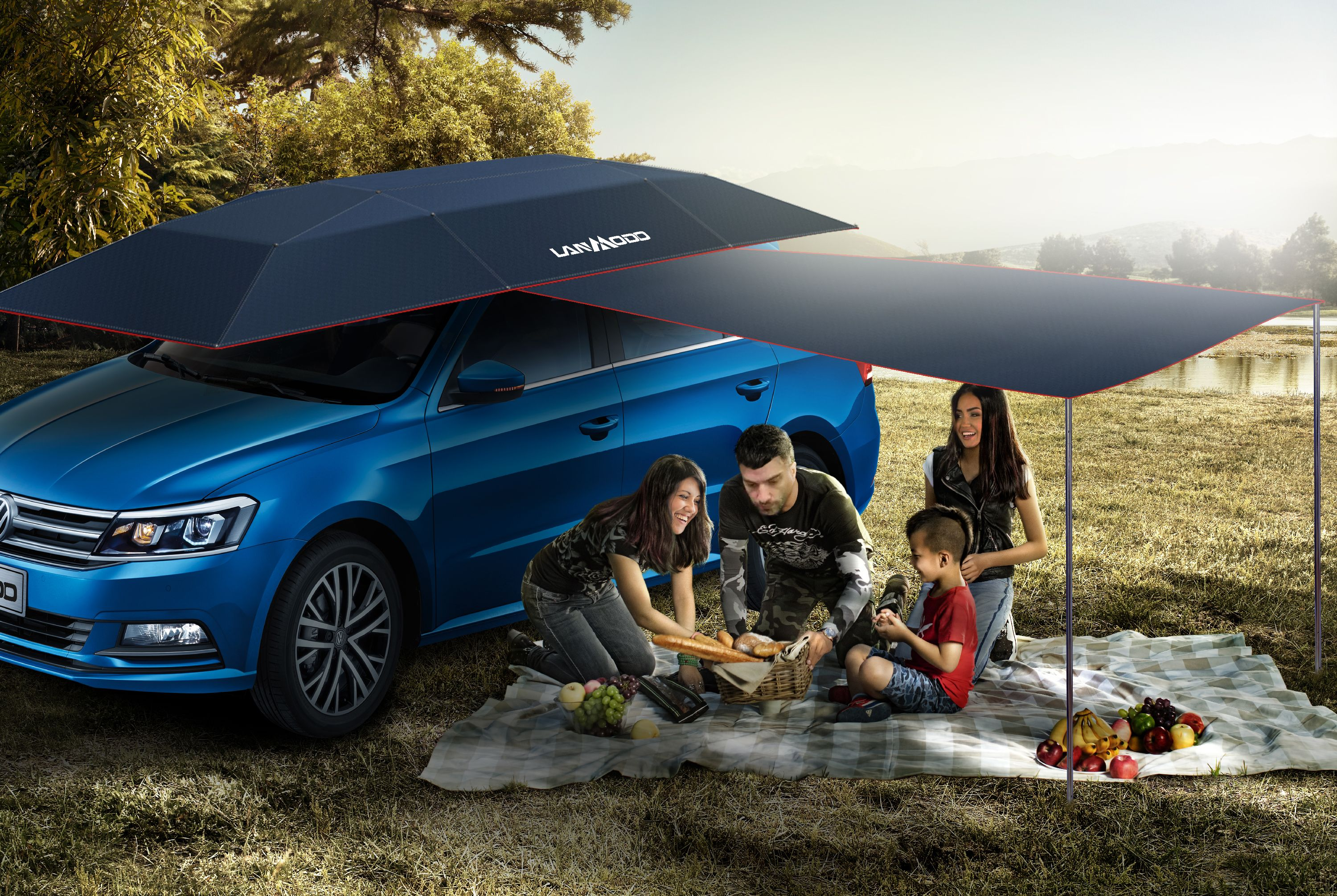 Lanmodo All In One Car Tent Ensure You A Nice Happy Family Time