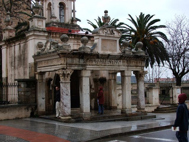 """Ruins reused for the entry (the """"hornito"""") of the Basilica of St. Eulalia (Mérida)"""