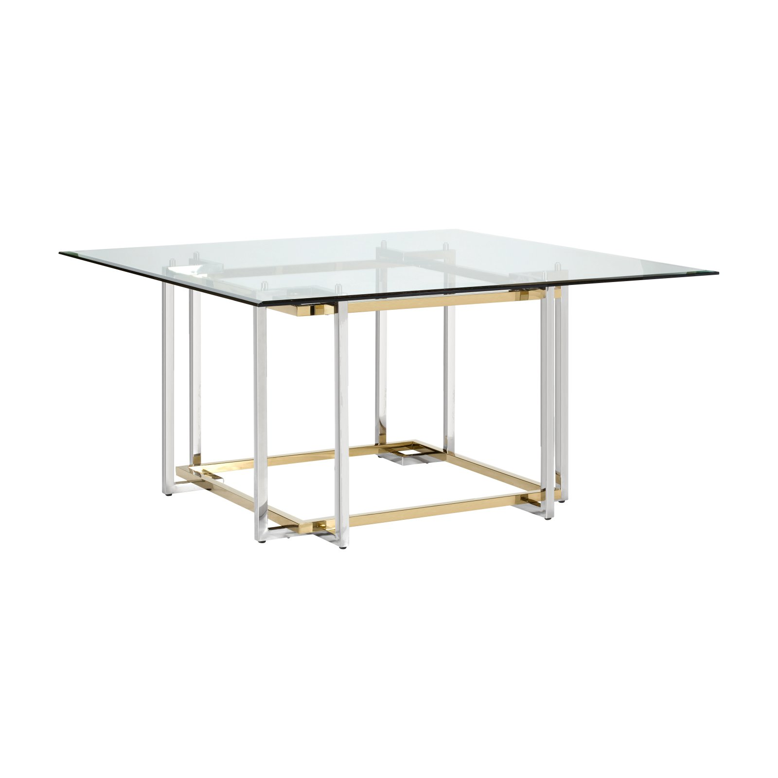 Lievo Elin Glass Square Dining Table Square Dining Tables Table